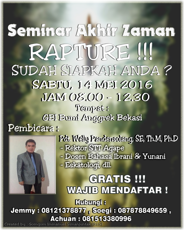 Seminar Akhir Zaman Mei 2016